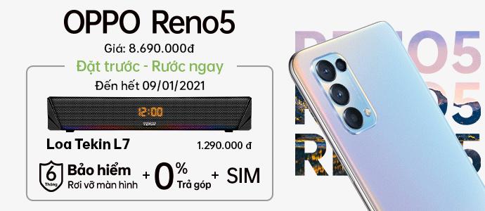 ĐẶT TRƯỚC RENO 5 <br> Bộ quà cực xịn